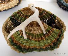 Handmade Basket with Deer Antler Handle by TheBentTreeGallery, $115.00