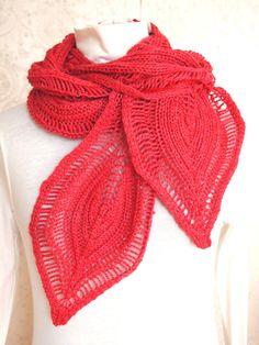 Knitting Pattern Lace Knit Cowl Scarf PDF от KnitChicGrace на Etsy