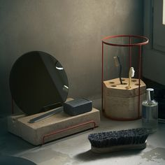 adobe terracotta desk tools by ilaria innocenti