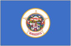 """Illustration: state flag of Minnesota. Source: Wikimedia Commons. Read more on the GenealogyBank blog: """"Minnesota Archives: 105 Newspapers Online for Genealogy Research."""" https://blog.genealogybank.com/minnesota-archives-105-newspapers-online-for-genealogy-research.html"""