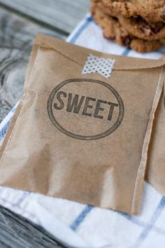 Sweet treat cookie bags! DIY letterpress with the L Letterpress craft tool!