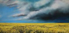 "Richard Cole CANOLA 15044 / Canada House Gallery - oil, canvas 30"" x 60"""
