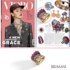 BRUMANI at Vioro Magazine!!! @brumanijewelry #brumani #vioro #vioromagazine #ring #gold #glamour #baobab #ruby #trend #tourmaline #diamond #browndiamond #aquamarine #freshfrombrazil