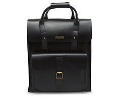 Leather Backpack BLACK AB012001