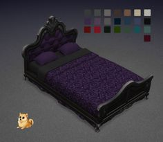 Lexicon Luthor: Gothic Double Bed Set • Sims 4 Downloads