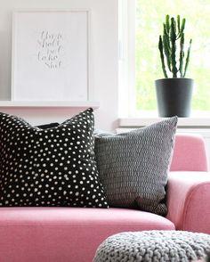 black, white & pink