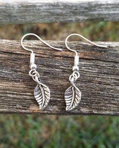fcf132fee163b Little Leaf Earrings. Silver. Wedding Gift