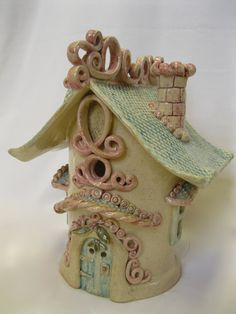 Whimsical Fairy House by ClaySoul on Etsy, $245.00