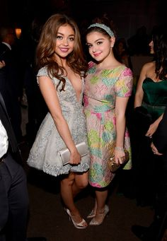 Modern Family stars Ariel Winter and Sarah Hyland attended the Fox afterparty.