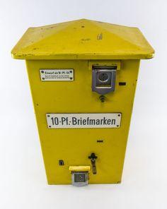 """DDR Museum - Museum: Objektdatenbank - """"Briefmarkenautomat"""" Copyright: DDR Museum, Berlin. Eine kommerzielle Nutzung des Bildes ist nicht erlaubt, but feel free to repin it!"""