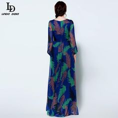 Elegant Women Maxi Dress Batwing Sleeve Rose Floral Printed Long Dress Party Dresses Like and share if you think it`s fantastic! www.sukclothes.co... #shop #beauty #Woman's fashion #Products