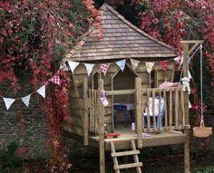 cabane de jardin enfant sur pied en bois