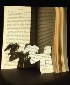 Who could cut up a Harry Potter book! But this does look cool.
