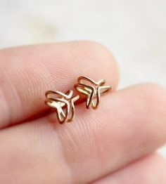 Gold Pod Stud Earrings | Jewelry Earrings | Moira K. Lime Jewelry | Scoutmob Shoppe | Product Detail