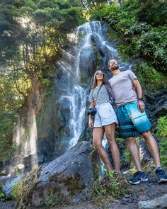 133 Likes, 13 Comments - Rita Jorge Visit Portugal, Azores, Travel Couple, Landscape Photos, Couple Goals, Waterfall, Couples, Instagram, Waterfalls