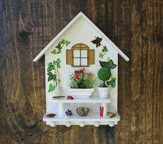 Wooden Wall Decor, Kids Wall Decor, Outdoor Wood Projects, Diy Projects, Dolly House, Birdhouse Craft, Rice Paper Decoupage, Bird House Kits, 3d Quilling