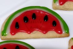 OMG! Watermelon cookies.