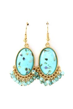 Turquoise Mother of Pearl Jenna Earrings
