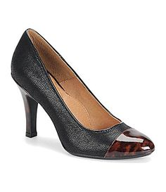 So classy and cute. I want! Sofft Marilla CapToe Pumps #Dillards