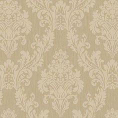 Royal Cottage Grande x Damask Embossed Wallpaper Paintable Wallpaper, Go Wallpaper, Luxury Wallpaper, Embossed Wallpaper, Damask Wallpaper, Bathroom Wallpaper, Pattern Wallpaper, Bathroom Designs India, Bathroom Ideas