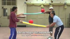 Motor Planning Activity Using Pool Noodles Your Therapy Source is part of Gym games Here is a super easy set up but challenging activity to encourage motor planning skills, coordination and body aw - Youth Games, Gym Games, Pe Activities, Senior Citizen Activities, Physical Activities For Kids, Gross Motor Activities, Elementary Pe, Team Building Games, Kids Team Building Activities