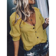 Chemises Sexy, Easy Style, Shirt Bluse, Sexy Shirts, Blouse Outfit, Work Blouse, Shirt Dress, V Neck Blouse, Sexy Blouse