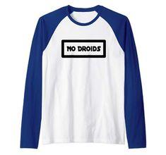 No Droids Raglan Baseball Tee Raglan Baseball Tee, Presents For Men, Tee Shirts, Tees, Branded T Shirts, Tailgating, Pennsylvania, Pittsburgh, T Shirts