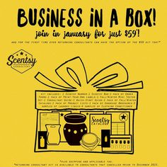 STOP Starting in 2017 you can start your own business where you control how much you earn through your own efforts, while having fun and making some awesome new friends in a positive environment!  Plus, perks like earning Free & Half off Scentsy AND All Expenses paid trips? $59 CAD is all you need to start your own fun Scentsy business in January!  Who's down???
