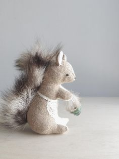 a busy squirrel  soft sculpture animal by ohalbatross on Etsy, $78.00