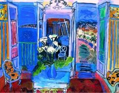 Interior with an open window. Raoul Dufy. 1928.