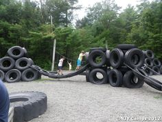 Lake Tire Playground Gaga | Pictures from NJY Camps