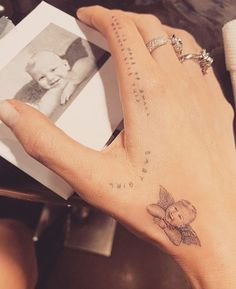 Outstanding tiny tattoos ideas are available on our site. look at this and you wont be sorry you did. 27 Tattoo, Tattoo Henna, Tattoo For Son, Shape Tattoo, Dr Woo Tattoo, Tattoo Baby, Hand Tattoos For Women, Small Girl Tattoos, Tattoo Girls