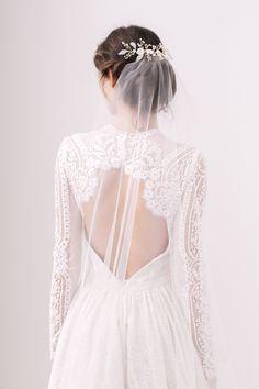 barely there wedding veil minimal