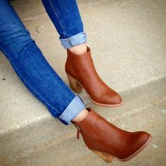 these lovely cognac ankle boots! must find!