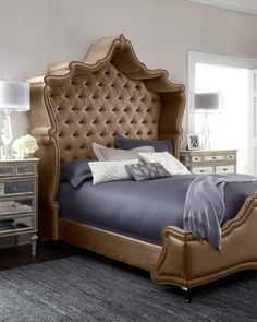 Shop Maria Queen Tufted Bed from Haute House at Horchow, where you'll find new lower shipping on hundreds of home furnishings and gifts. King Beds, Queen Beds, Bedroom Furniture, Furniture Design, Bedroom Decor, Gray Bedroom, Camas King, Tufted Bed, California King Bedding