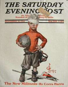 jc leyendecker original illustrations | ... Saturday Evening Post Cover ~ J.C. Leyendecker ~ Bandaged Football Kid