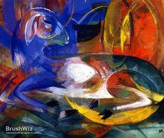 Blue Lamb by Franz Marc - Oil Painting Reproduction - BrushWiz.com