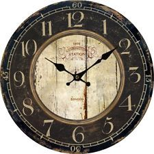 Modern Home NEW Euro Wall Clock Country Antique Wood Home Decor Vintage Style