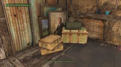Started using Paintings as clutter at the back of my general store : falloutsettlements Fallout 4 Settlement Ideas, Nuclear War, Fall Out 4, I Gen, General Store, Clutter, Video Games, Building Ideas, Nerd