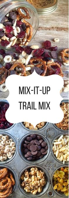 It's always smart to have wholesome snacks on hand, and this Healthy Homemade Trail Mix is super easy and versatile. It's a no-brainer grab n go snack. Trail Mix Recipes, Snack Mix Recipes, Cooking Recipes, Snack Mixes, Vegan Recipes, Dessert Recipes, Chex Mix, Healthy School Snacks, School Lunches