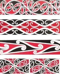 Taniko in maori colours Maori Designs, Maori Symbols, Maori Patterns, Native Tattoos, Jr Art, Marquesan Tattoos, Maori Art, Kiwiana, Carving Designs