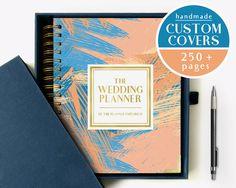 The Wedding Planner Keepsake Book And Journal Custom Names Or Monograms Metallic Foil Bachelorette Gift Baby Shower Soft Pink