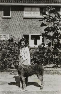 Anne Frank with Isa's dog Dopy in Laren, The Netherlands.