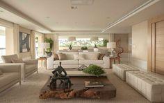 Um apartamento com jeito de casa. Assim é o projeto de Débora Aguiar, feito para uma cobertura duplex de 700m², em São Paulo. Os proprietários, um casal de