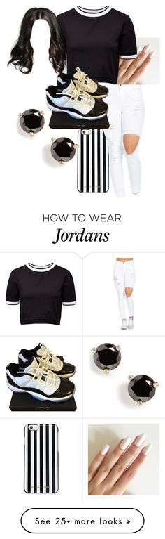 """""""Untitled #530"""" by jadab521 on Polyvore featuring MICHAEL Michael Kors, French Connection, NIKE and Kate Spade"""