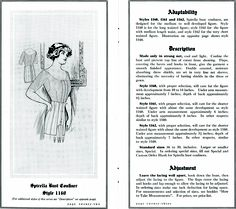 Spirella brassiere with dress shields from http://commons.wikimedia.org/wiki/File:SpirellaAccessories1913page22_23.png