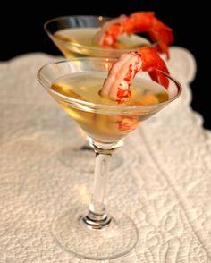 la gallina vintage: le feste, nella mia cucina. Il capodanno.gamberi in gelatina di champagne