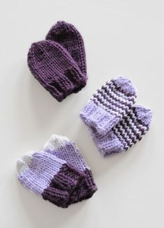 Baby Mitts from Spud and Chloe Baby Mittens Knitting Pattern, Knit Mittens, Knitting For Kids, Free Knitting, Yarn Projects, Knitting Projects, Crochet Projects, Brei Baby, Vogue Knitting