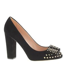 Shoe love!! Pre-order Etta suede studded pumps {Women's, Fashion, Black, Heels, Shoes}