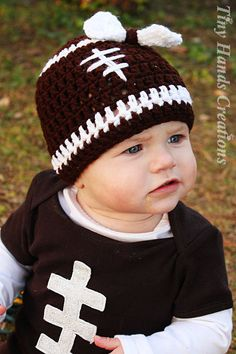 Girly LET'S PLAY Some FOOTBALL Baby Hat  by KountryKreations2008, $8.00